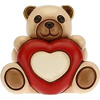 THUN - Soprammobile Teddy Love con Cuore - Idea Regalo per Il Giorno degli Innamorati - Formato Piccolo - Soprammobile…