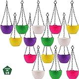Leafy Tales Plastic Hanging Pot with Chain, 18.5 x 12.5 x 32 cm, 15 Pcs DCP