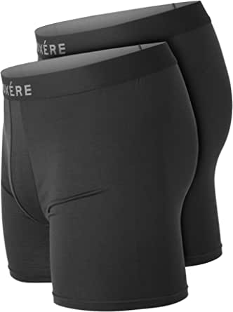 Mens Boxers Underwear Multipack - 2 Pack Ultra Comfy Boxer Briefs Shorts - Crafted From Modal for a Soft Feel and Anti Chafing Fit - Boxere