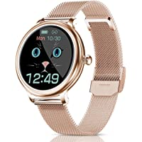 CatShin Smartwatch Damen,Fitness Armbanduhr Tracker Wasserdicht Smart Watch damen,Touchscreen Fitness Uhr für Damen mit…