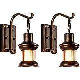 LULING, zestaw dwóch lamp ściennych, Rustykalne, Skandynawskie, Szkło, Retro, Metal, Czarne, Do restauracji, domu, baru, sypi