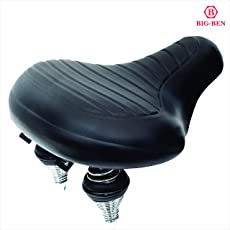 Big-Ben Comfortable Bike Seat for Men and Women,Oversize Bicycle Saddle with Soft Cushion Improves Comfort for Mountain Bike, Road Bicycle, Hibrid and Stationary Exercise Bike