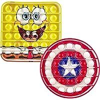 Push Bubble Pop Sensory Fidget Toy Agitation Jouet Dessin animéCaptain Bouclier Jeux Sensoriels Gadget Cadeau Stress…