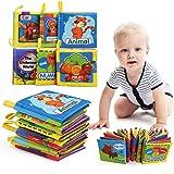 LEADSTAR Bambino Cognition Libro, 6 Pezzi Libri in Tessuto Morbido per Bambino Neonati, Intelligence Development Panno Libro