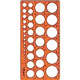 Maped - cirkelsjabloon TECHNIC, voor cirkels diameter 1-35 mm - oranje