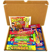 Retro Sweets Mini Selection Box: Box of 18 Childrens Sweets, Sweet Box for Birthdays, Party's, Pinata Fillers: Letterbox…
