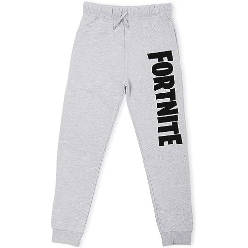 Fortnite Pantaloni Ragazzo   Tuta Sportiva Casuale Bambino   Pantaloni da Jogging Pantaloni Tuta in Nero o Grigio da 7 ai 14 Anni