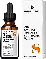 Iduncare Sérum Visage Vitamine C & Acide Hyaluronique - Soin Hydratant & Éclaircissant Anti Âge - Meilleur Sérum pour...