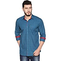 LEVIZO Men's Regular Fit Casual Check Shirts