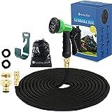 GRANDMA SHARK Garden Hose, Hose Pipes with 8 modes Water Spray Gun, Expandable Hose Pipe Spray Gun, Garden Hose Reel, Magic W