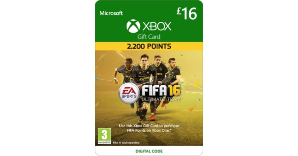 Xbox Live £16 Gift Card: FIFA 16 Ultimate Team [Xbox Live