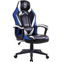Chaise Gaming Bleu, Fauteuil Gamer avec Massage, Fauteuil de Jeu PC pour Adultes, Chaise de Bureau Style Racing Grand…