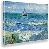 Giallobus - Quadro - Vincent Van Gogh - Il Mare a Les Saintes Maries - Tela Canvas - 100x70 - Pronto da Appendere - Quadri Mo