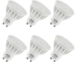 Dimmable 5W Ampoule GU10 LED Équivalent 50W Blanc Naturel 4000K 600LM RA85 120°Angle de faisceau,Lot de 6.