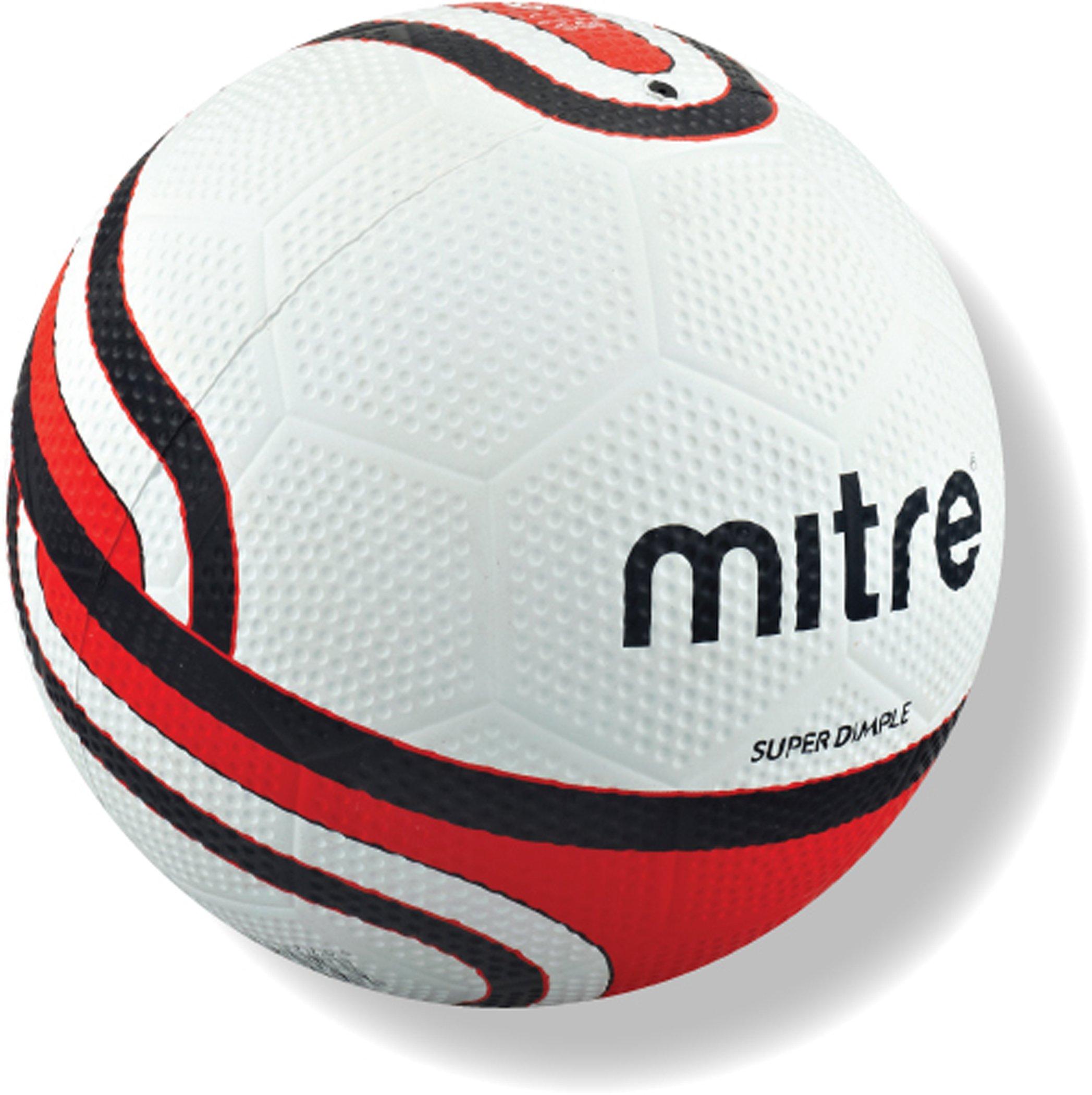 Mitre - Pallone da calcio Super Dimple da allenamento, bianco (bianco), 4
