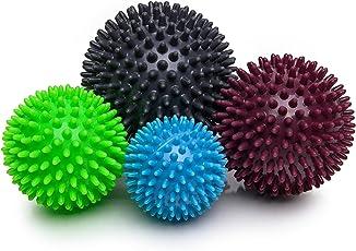 Igelball 4er-Set (hellblau, apple, brombeer, graphit) Massageball Noppenball hellblau