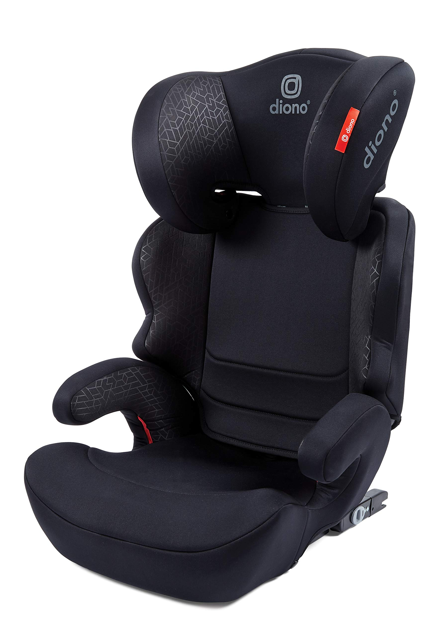 Diono Everett NXT Fix Highback Booster Seat - 7 Position Adjustable Headrest, Group 2/3 (15 - 36 kg and Up to 160 cm In Height), Approx. 4-12 Years, Black Diono Designed to grow: group 2/3 car seat is suitable from 18kg - 50kg, approx. 4 to 12 years old. The 7-position adjustable headrest can be altered using the handle on the back of the seat Superior safety: cushioned side impact protection has been engineered and tested to the highest standards. The ergonomic design includes extra padding to provide comfort and security as a child grows Universal connectivity: parents can install the seat using the vehicle seatbelt or use the integrated rigid latch connectors that anchor the seat to the car allowing the child to buckle themselves in 1