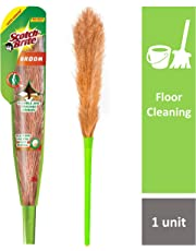 Scotch-Brite No-Dust Fiber Broom (Multi-Purpose, Green)