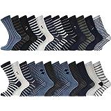 Socksmad Men's Socks – 12/24 Pair Pack Everyday Multicoloured Assorted Cotton Socks for Men UK 6-11 Size