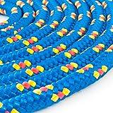 50m POLYPROPYLENSEIL 10mm BLAU Polypropylen Seil Tauwerk PP Flechtleine Textilseil Reepschnur Leine Schnur Festmacher Rope Kunststoffseil Polyseil geflochten