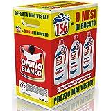 Omino Bianco Detersivo Lavatrice Igienizzante Liquido, Igienizza i Capi e Rimuove Germi e Batteri, Formato Convenienza, 156 L