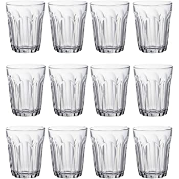Duralex Wave Stackable Highball Cocktail Glasses Tumblers Set 360ml x12