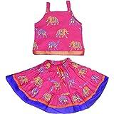 Anchal Collection Baby Girls' Cotton Lehenga Choli