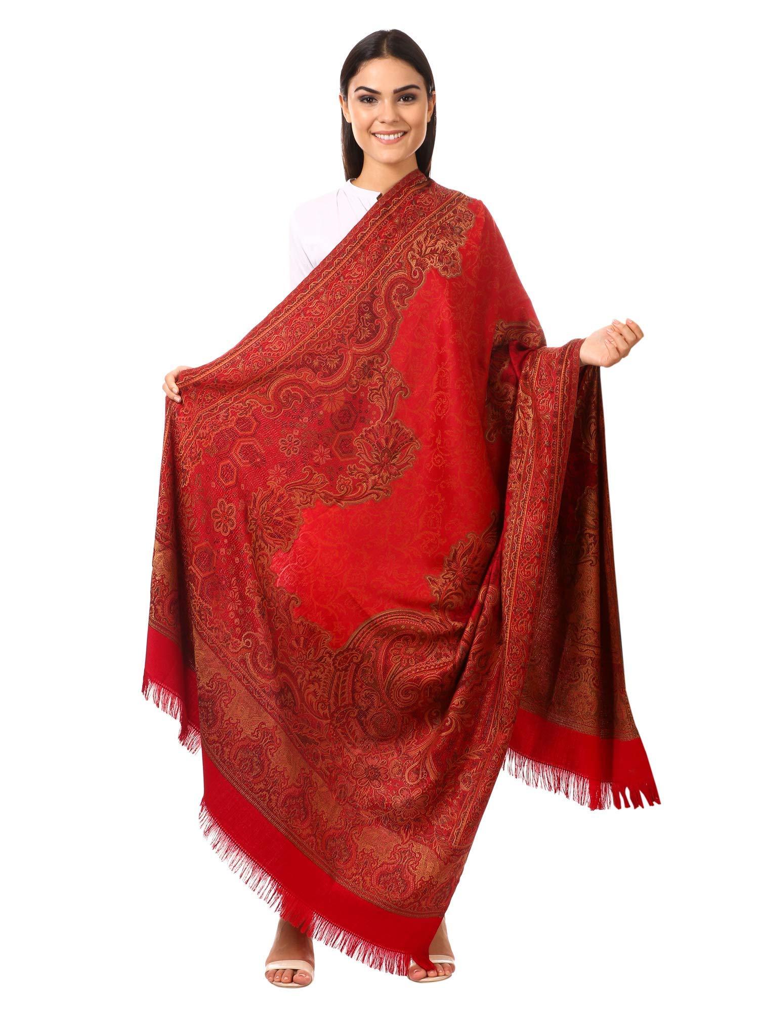 0a68334a80 Pashtush Women's Kashmiri Shawl, Jacquard palla, Warm ande soft ...
