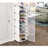 Aysis Portable Shoe Rack Organizer 30 Pair Tower Shelf Storage Cabinet Stand Expandable for Heels, Boots, Slippers, 10 Tier W