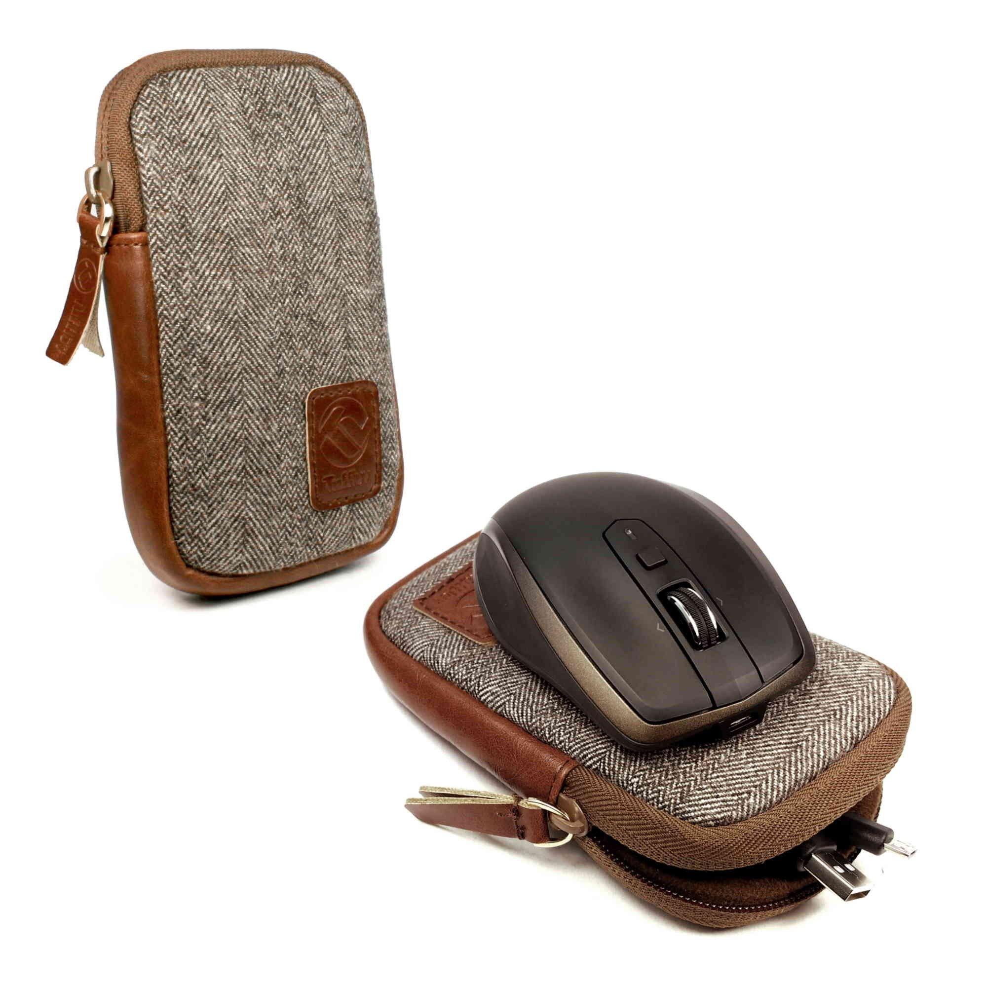 Tuff-Luv J6_23_5055261863852 Mouse Portafoglio Marrone, Grigio mobile device cases