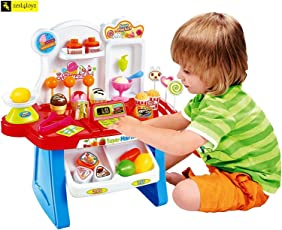 Zest 4 toyz 34 Pcs Kids Mini Market, Supermarket Pretend with Light and Sound - 34 Pcs Set.(Assorted)