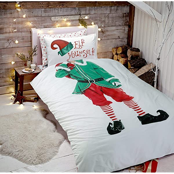 New Snowman Bedding Xmas Duvet Cover Set Double Size Reversible Bed with Pillowcase Quilt Bed Room Sketchy Snowman