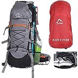 YOI Yo! Bag Hiking Bag For Men 65 Litres Rucksack Travel Backpack For Adventure Camping Trekking Bag With Rain Cover…