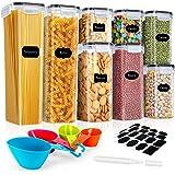 Gifort Boîtes de Conservation Alimentaire, Contenants Céréales Hermétiques, Boites de Rangement Cuisine en Plastique Scellée