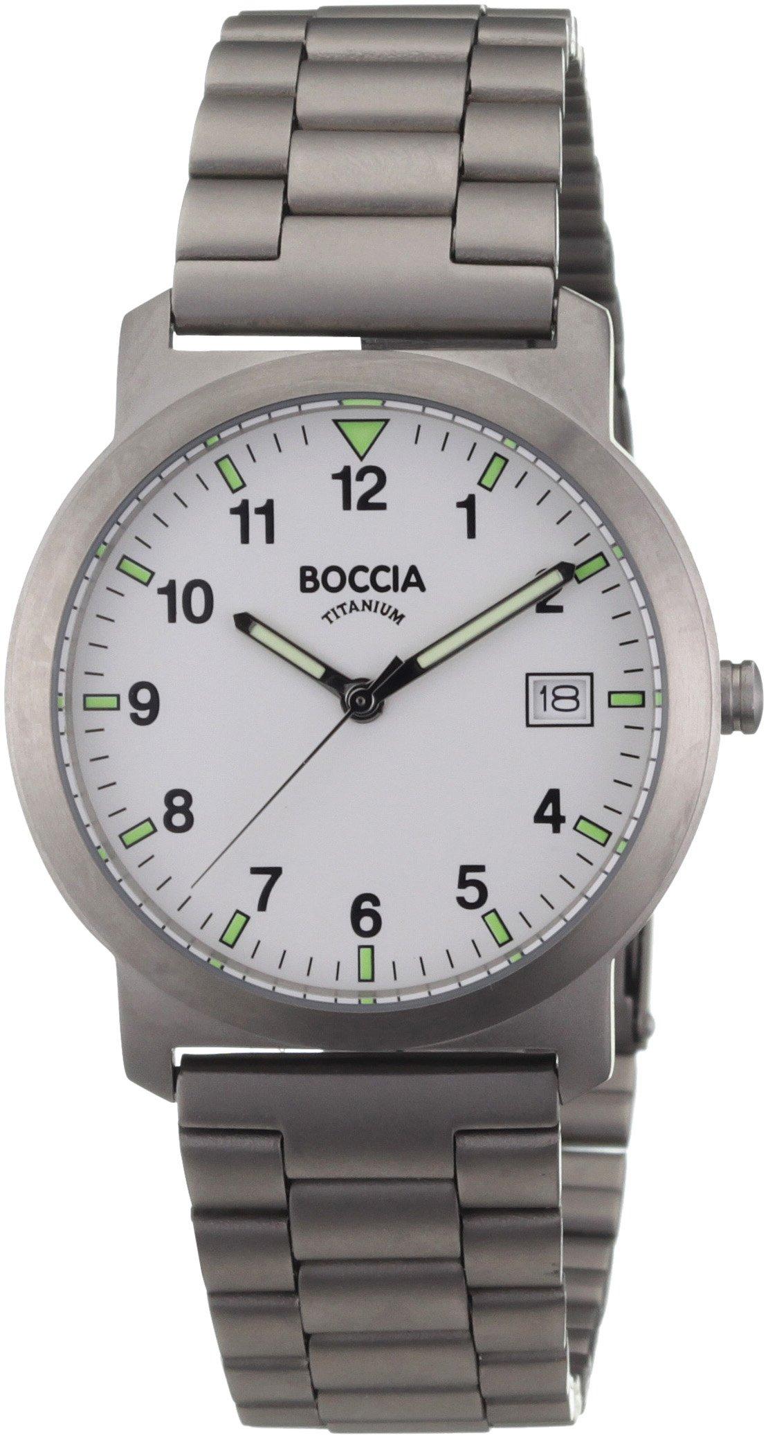Boccia Herrenuhr Analog Quarz mit Titanarmband 3630-01