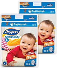 Drypers WWD Diapers (Large- 124 Count)
