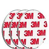 ECENCE Rookmelder magneethouder 3 stuks zelfklevende magneethouder voor rookmelder Ø 50 mm snelle & veilige montage zonder te