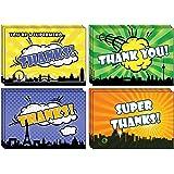 40 recycelte Dankeskarten – umweltfreundlich wie ein guter Superheld.