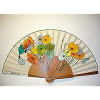 """Ventaglio Spagnolo/Ventaglio dipinto a mano/Ventaglio flamenco/Ventaglio di legno""""Bouquet di papavero"""""""