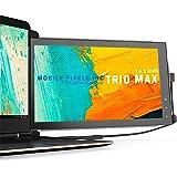 Mobile Pixels Trio Max Tragbarer Monitor,14'' Full HD IPS Dual Triple Monitor für Laptops,USB C/USB A Tragbarer Bildschirm,Wi