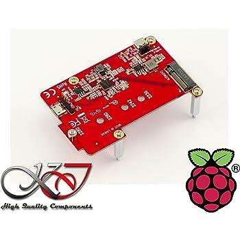 Kalea-Informatique ©–Piastra di espansione per Raspberry Pi IoT–1porta per SSD M2(M.2NGFF SATA)–Gamma professionale/Componenti alta qualità