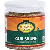 Dhampure Speciality Jaggery Coated Fennel Seeds Mouth freshener / Gur Saunf Mukhwas, 250 g