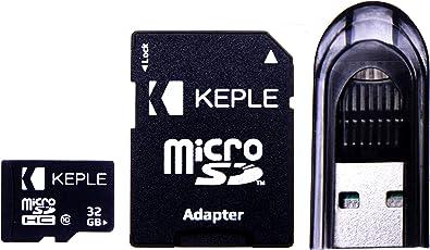 Scheda di memoria Micro SD da 32GB di Keple | MicroSD Class 10 per Vemont, Maifang, Victure, Crosstour, Campark, Camkong Action DBPower, Apeman, VicTsing, Wimius, Akaso Action Camera Fotocamera | 32 GB SDHC UHS-1 U1 (USB Reader e adattatore SD inclusi)