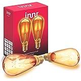 Innr E27 Smart Filament LED Edison lamp, compatibel met Philips Hue* & Alexa (bridge vereist), vintage, 2200K, ST64, 2-pack,