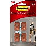Command 17032C-4ES Kleine metalen haak-koper, One Size