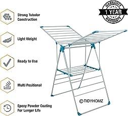 Tidyhomz Senio Wing Cloth Dryer Stand (White)