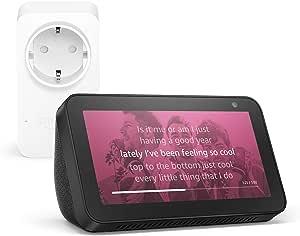 Echo Show 5, Nero +Amazon Smart Plug (presa intelligente con connettività Wi-Fi), compatibile con Alexa