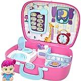 Baby Buppies - Casa Maletín Interactivo con Sonidos divertidos y 10 Complementos bebé Sorpresa Guía de cuidados y certificado