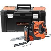 BLACK+DECKER RS890KA-QS Scie à main filaire - Capacités de coupe : 3 mm métal, 100 mm bois, 50 mm tuyau plastique et…