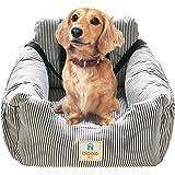 FRISTONE Hunde Autositz, Waschbar Auto Hundebett, Rutschfeste Katze Reisen Front Booster Sitze mit Abnehmbare HundeKissen, Rosa(Pink), Blau, Kaffeebraun
